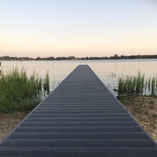Badebro ved Sunds Sø